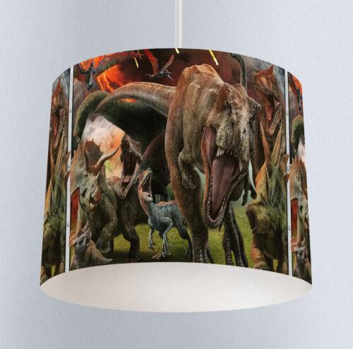 Canvas Prints JURASSIC WORLD - Kids Boys Bedroom Lampshade Clock 378 Lamp