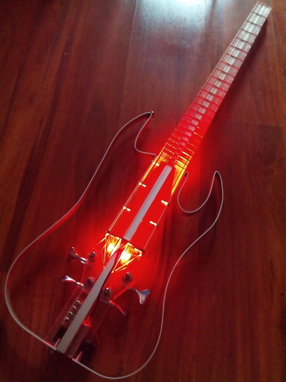 30% OFF NEW Equester acrylic silent bass guitar, handmade, short scale, headless