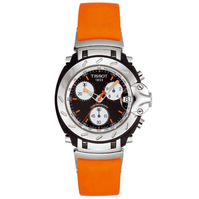 New Tissot Men S T0114171705101 T Race Chronograph Orange