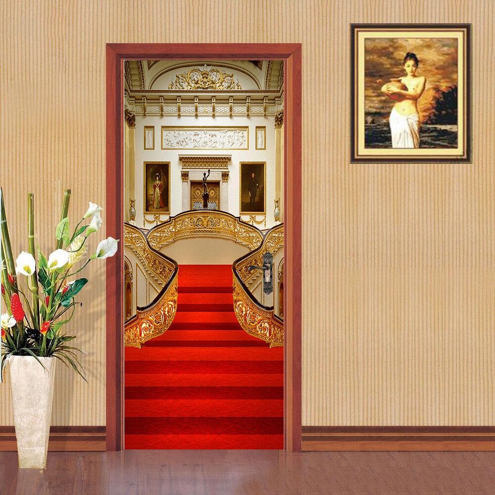 3D Treppen Rot 8 Tür Wandmalerei Wandaufkleber Aufkleber AJ WALLPAPER DE Kyra | Um Sowohl Die Qualität Der Zähigkeit Und Härte  | Bekannt für seine hervorragende Qualität  | Shop
