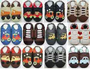 48bd6cae5f913 Image is loading Minishoezoo-baby-bootee-slippers-baby-child-leather-shoes-