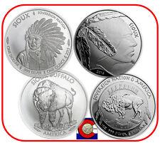 2015 & 2016 Sioux Indian Buffalo $1 Silver 1 oz Coins -- Native American Mint