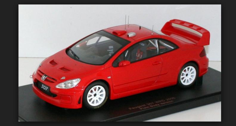 prima qualità ai consumatori Peugeot 307 WRC Stradale 2005 rosso 80557 1 1 1 18 AutoArt  più economico