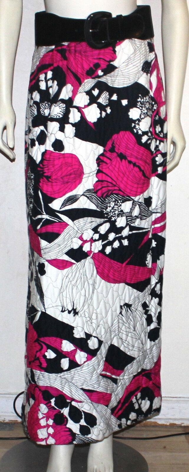 Alex Coleman of California vintage maxi mod skirt  floral