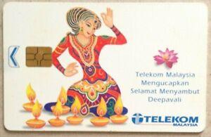 Malaysia-Used-Phone-Cards-Deepavali-Festival-of-Lights