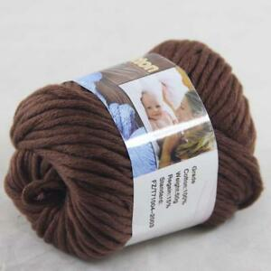 Sale 1BallX50g Chunky Cotton Hand Knitting Smooth Special Soft Thick Yarn Red
