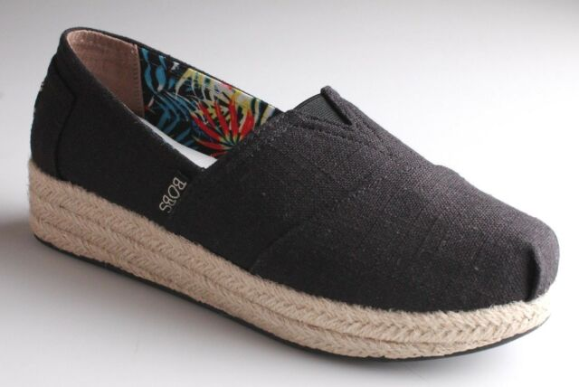 392549cf ... skechers bobs wedge espadrille shoe women s 8 med black memory foam ...