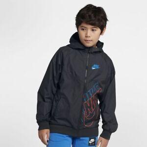 b3077573f8 Nike Big Boys Sportswear Windrunner Full Zip Jacket L Hoodie Black ...