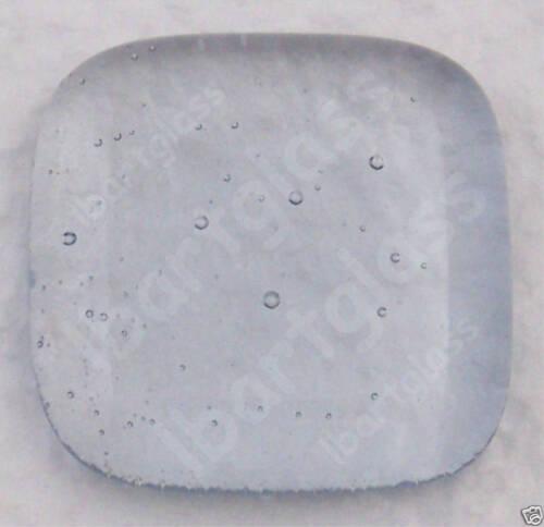 "12 GRAY BLUE TINT 1/"" x 1/"" BULLSEYE 3mm FUSIBLE GLASS 90 COE"
