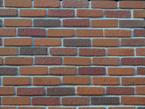 500 1:12th Rosso in miniatura scala Multi brickslips l1011m