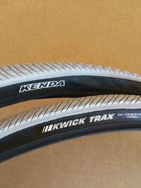 "Pair of 24/"" x 1-3//8 Bicycle Tires GRAY MTB BMX Bikes New"
