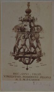 Piseitalie Fotografia E.Van Lint Carte de visite PL45L2n3 Vintage Albumina