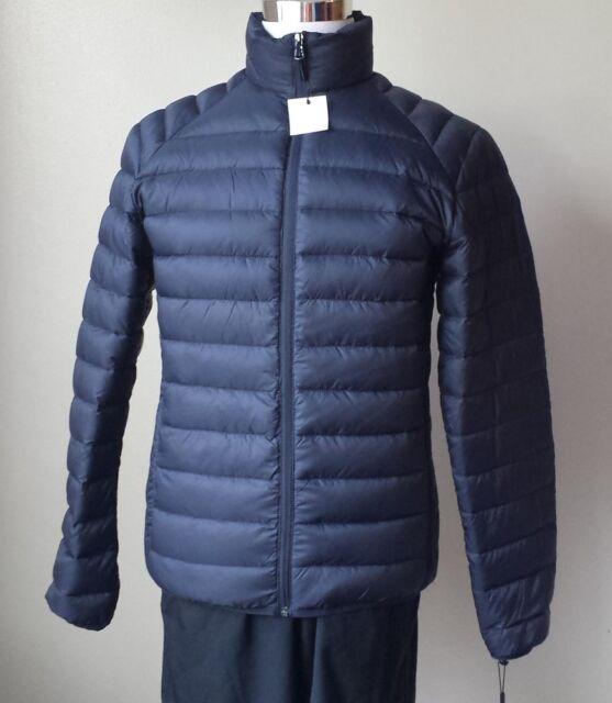 Calvin Klein Men Size S Navy Blue Packable Down Puffer Coat Jacket