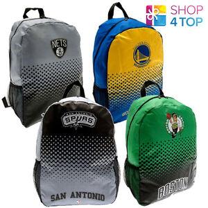 OFFICIAL BASKETBALL CLUB TEAM BACKPACK NBA SCHOOL TRAVEL BAG ... 5f5d2c501e56