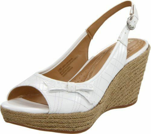 Naturalizer Nieva Hessian Covered Wedge Sandals 8