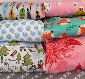 Flannelette Printed 100/% Cotton Baby Cot Sheet