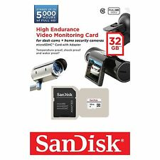 SanDisk 32GB High Endurance Video Monitering microSDHC card with Adapter.