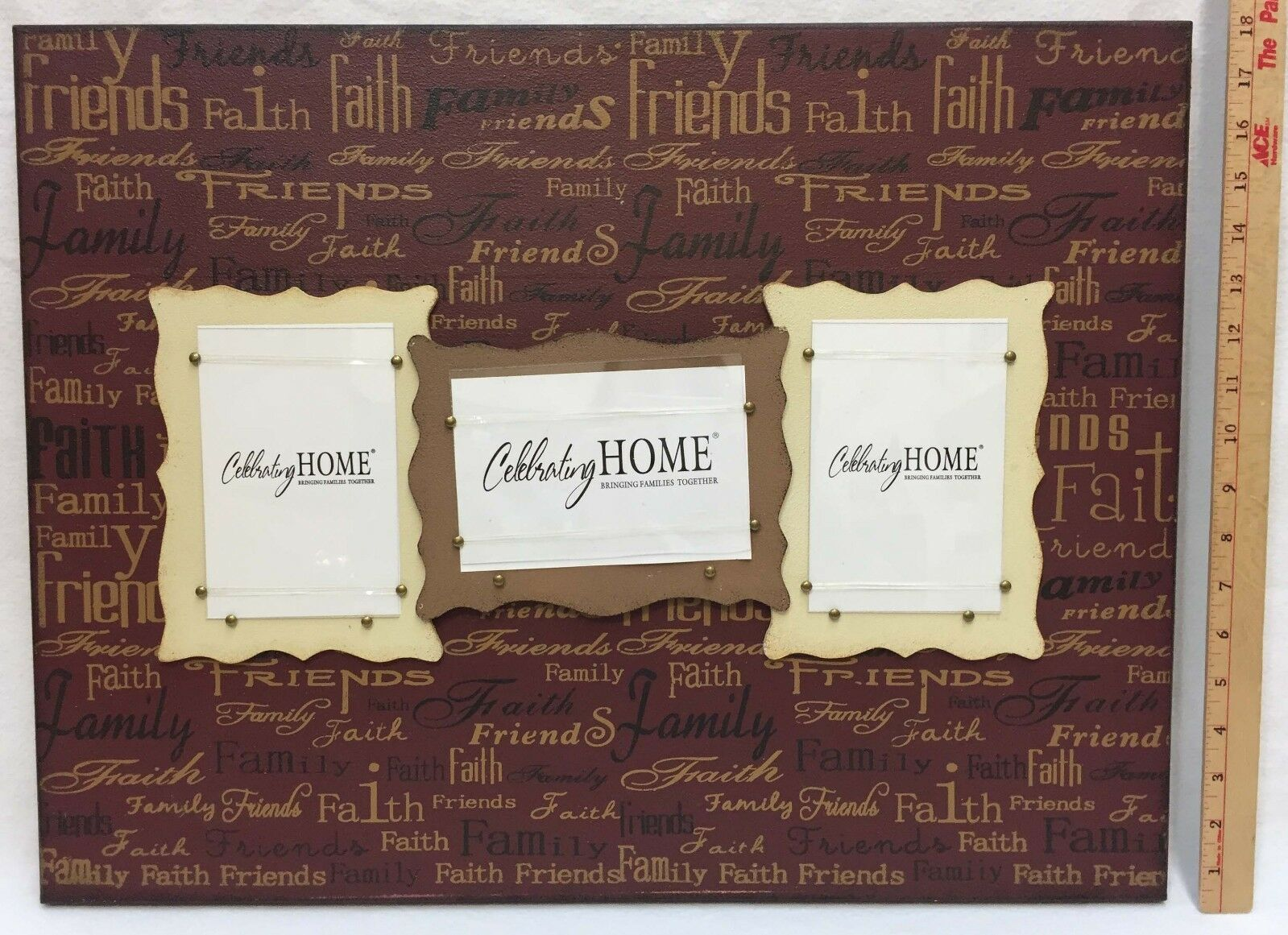 Photo Frames Wall Decor Celebrating Home Faith Family Friends 23  x 18