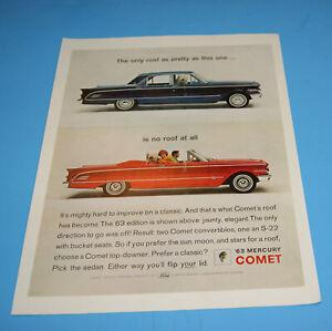 1963 Print Sales AD Art Advertisement Car Automobile MERCURY Comet 10 x 13 Orig