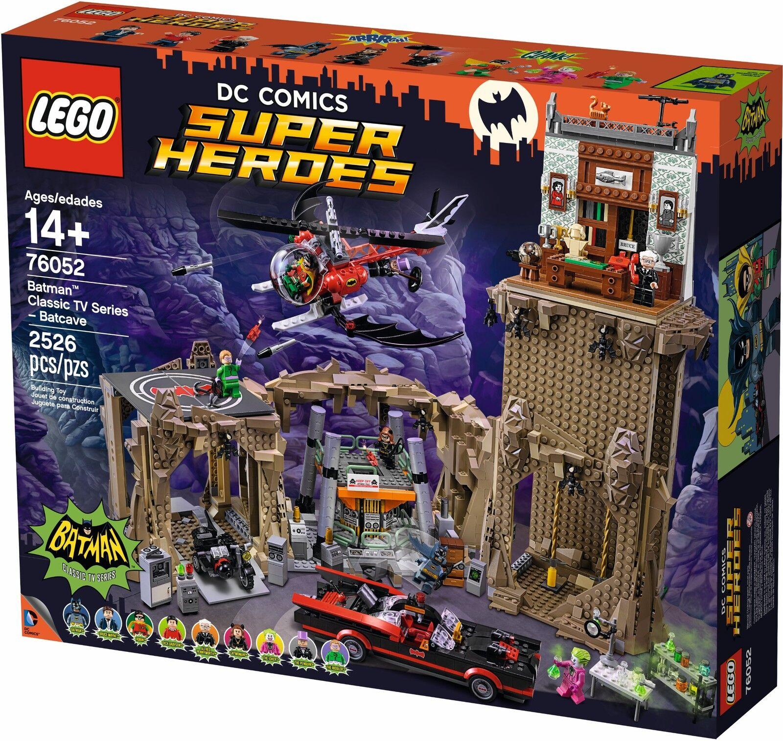 LEGO ® DC Comics ™ SUPER HEROES 76052 Batman ™ CLASSIC TV SERIES – Batcave NUOVO NEW