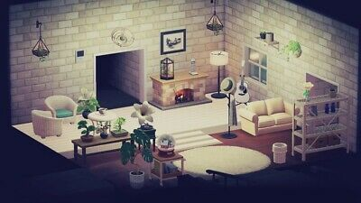 Animal Crossing New Horizons White Living Room Furniture ... on Living Room Animal Crossing New Horizons  id=40770