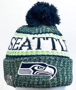da27dd25215 NEW ERA MENS NFL 2018 ON FIELD SPORT KNIT BEANIE SEATTLE SEAHAWKS