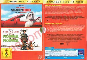 DVD-TIM-ALLEN-BOX-SHAGGY-DOG-amp-AUS-DEM-DSCHUNGEL-IN-DEN-Disney-Rar-OOP-Neu-OVP