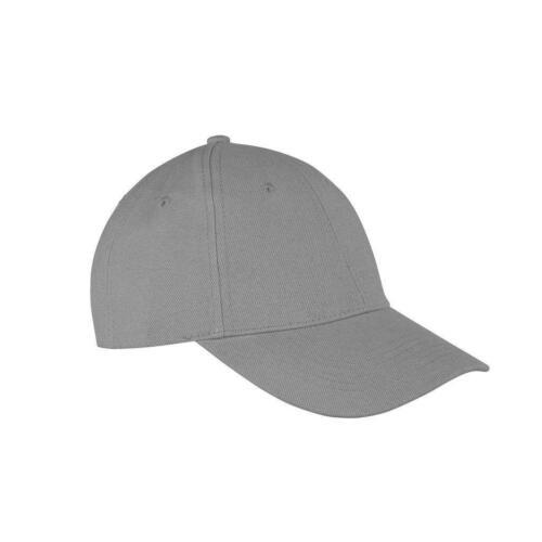 Mens Ladies Grey Low Profile Plain Baseball Cap Sports Leisure Unisex