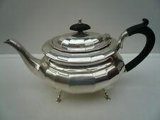 Silver Teapot, Sterling, English, Vintage, Tableware, Hallmarked 1935