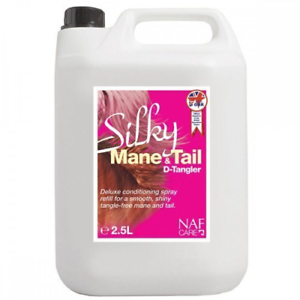 Silky Mane & Tail D-Tangler, NAF, Horse Grooming, 2.5L Refill