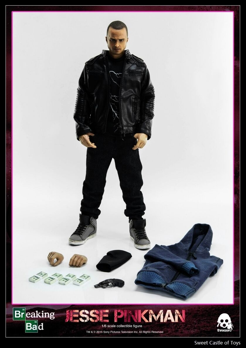 1 6 ThreeA GIOCATTOLO ACTION FIGURE BREAKING BAD JESSE PINKMAN AARON PAUL 3A