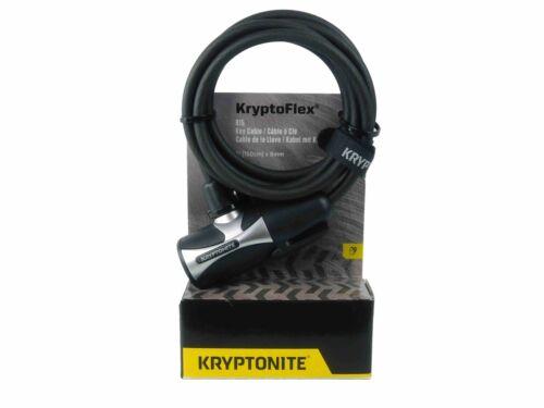 Kryptonite Kryptoflex 815 Key Cable Bicycle Lock Transit Bracket 5/' 150cm 8mm