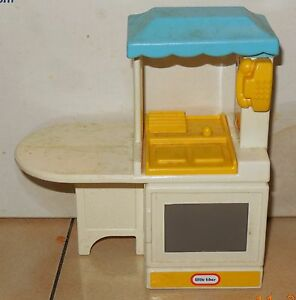Vintage Little Tikes Doll House Size Kitchen Sink and Stove Pretend ...