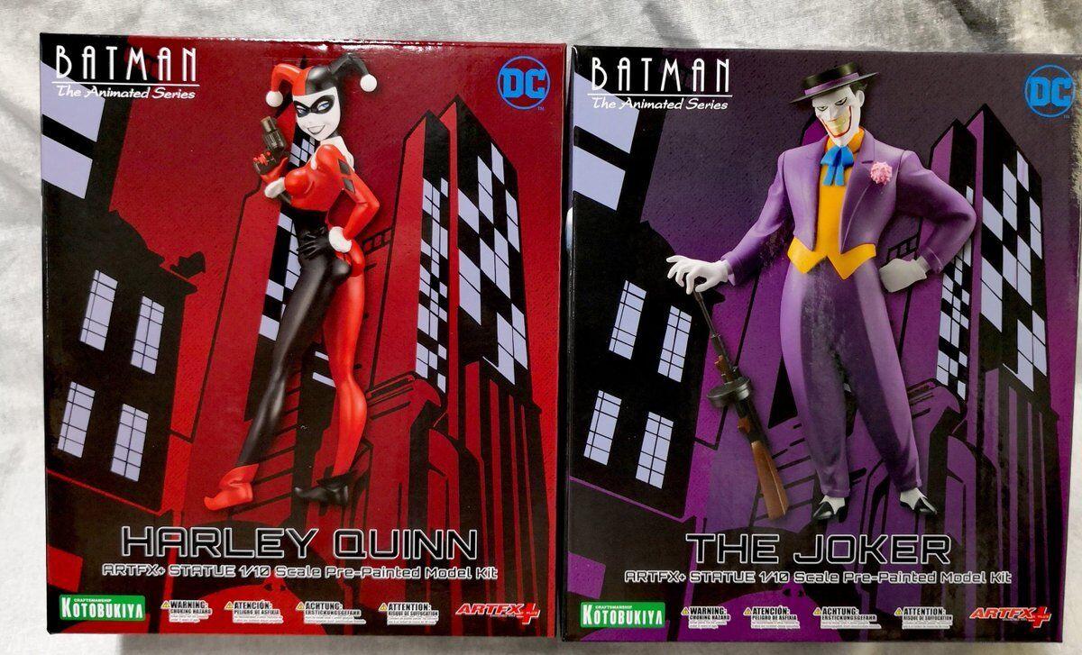 DC Comics Batman Animated Series Joker & Harley Quinn Artfx Kotobukiya Statue