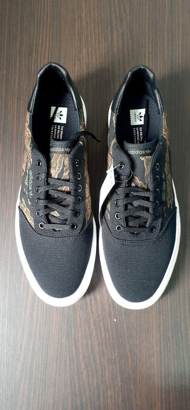 Adidas 3MC Vulc Skateboard Shoe - Black/Brown/Camo