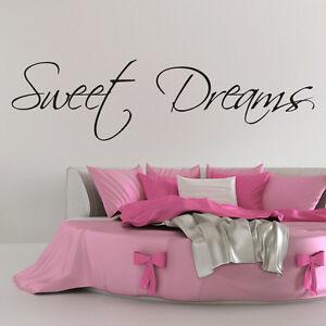 Sweet dreams da parete adesivo decorazioni adesive frasi for Decorazioni da parete adesive