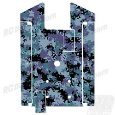 Axial Yeti XL Chassis Plate Protector - Thick Graphics - Digi Camo Blue