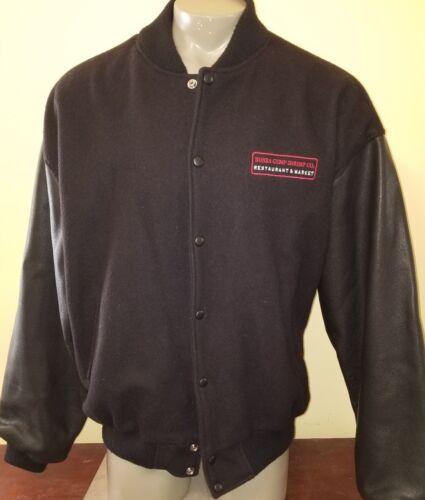 Bubba Gump Shrimp Co letterman Jacket black Size X