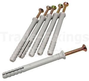 NYLON HAMMER IN FRAME FIXINGS RAWL MASONRY PLUGS /& SCREWS M5 M6 M8 ALL LENGTHS