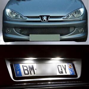 5-ampoules-a-LED-blanc-lumiere-feux-de-position-feux-de-plaque-Peugeot-206