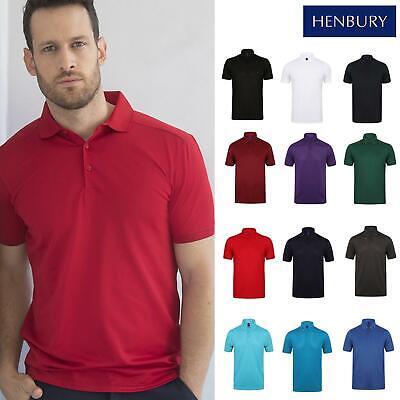 Henbury Stretch Che Assorbe Finito Polo H46-unisex Tinta Unita Con Colletto T-shirt-mostra Il Titolo Originale Perfetto Nella Lavorazione