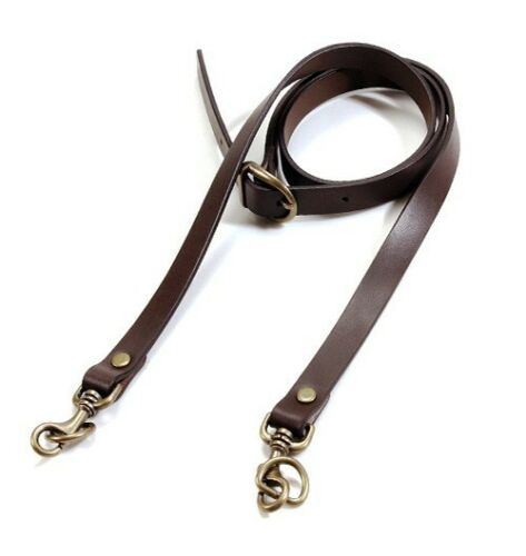 "40.5 ~ 44/"" byhands Brown Genuine Leather Adjustable Crossbody Shoulder Bag Strap"