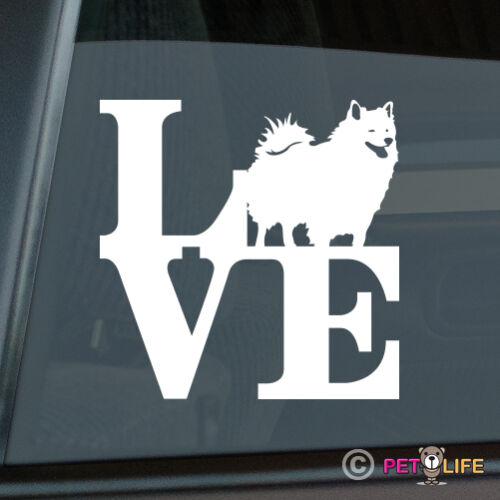 Love American Eskimo Sticker Die Cut Vinyl park eskie