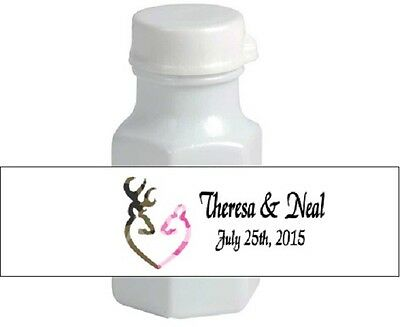 Wedding Deer Camo Hunting Mini Bubble Labels Party Favors Personalized Custom