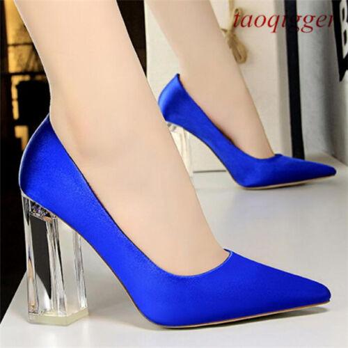 Us4 Couleurs Transparent Party Chaussures Femmes 12 Hauts Talons Slip 5 On Mode W168 10 HEU4xUq