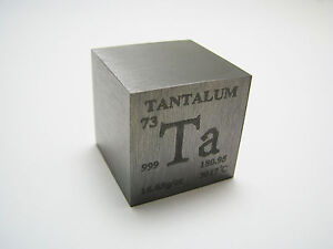 1 inch 25.4 mm Pure Tantalum metal element cube periodic ...