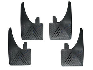 UNIVERSAL-Car-Rubber-Black-MUDFLAPS-Mud-Flaps-SET-of-4-Front-amp-Rear