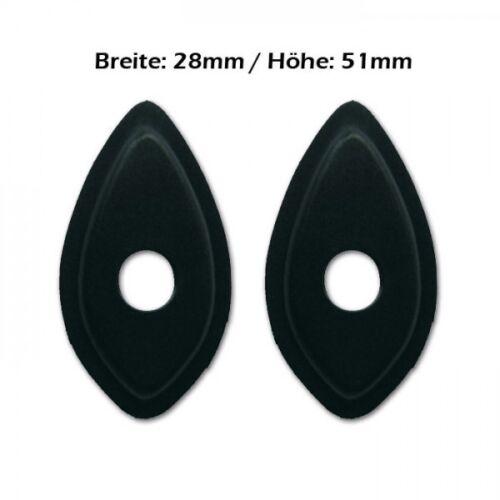 fairing mounting plates Adapter//Adapterplatten LED-Blinker//Miniblinker Honda