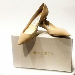 9084a71c4 Jimmy Choo | NIB $650 Romy 40 Bon Ton Kitten Heels in Nude Suede ...