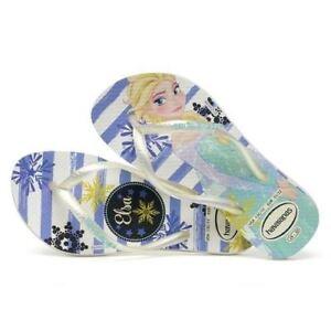 34b200d68637e Havaianas Slim Kids Girl Princess Frozen Rubber Flip Flops All Sizes ...
